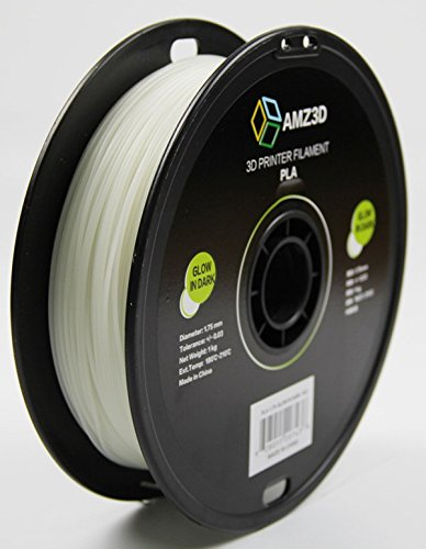 1.75mm Glow in Dark PLA 3D Drucker Filament - 1 kg Spule (2,2 lbs) - Maßgenauigkeit +/- 0,03 mm (Glow In The Dark Blau)