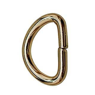 Amanaote Light Golden 0.8 Inner Diameter D Ring D Rings Non Welded by Amanaote