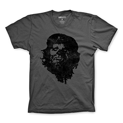 FM London Herren T-Shirt Printed Design Grey (Che-Chewbacca)
