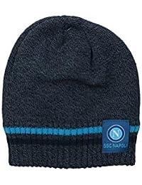 Cappello uomo donna cuffia NAPOLI- ENZO CASTELLANO blu grigio taglia unica  VL919 2745883d367e