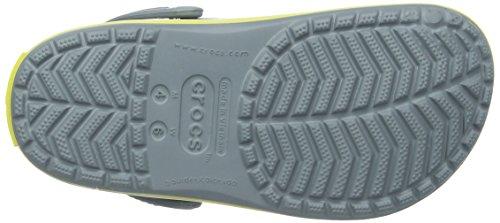 Crocs Crocband - Sabots - Mixte Adulte Gris (Concrete/Chartreuse)