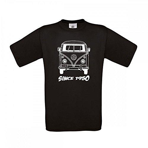 T-Shirt VW Bulli T1 - Ein Tolles Shirt für diese Kultmobil - Größe S - 5XL, T-Shirt Größe:XXXL, Farbe:Schwarz