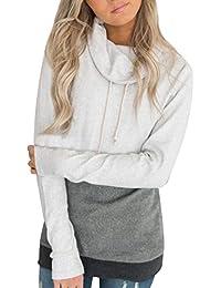 2a3e6886e9ae8 ACHIOOWA Women s Hoodies Jumper Hooded Sweatshirt Pullover Pockets Casual  Loose Coat