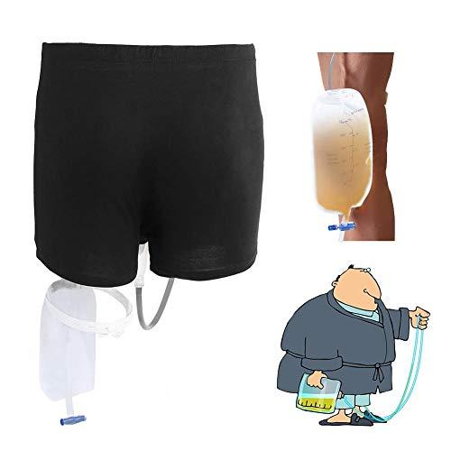Tragbarer Urin-Beutel-Inkontinenz-Hosen für Männer, Urinal-System mit Sammlungs-Beutel Tragbarer Leck-Beweis-Bein-Pipi-Katheter-Halter für Ältesten