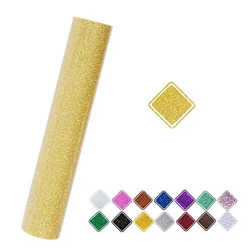 Vinyl-Frosch Glitzerfolie für Kamee, 25,4 x 152,4 cm hellgoldfarben