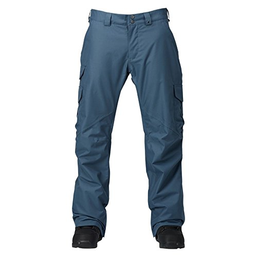 Burton Herren Cargo Pant Mid Snowboardhose, Washed Blue, L (Cargo Ski Pants)