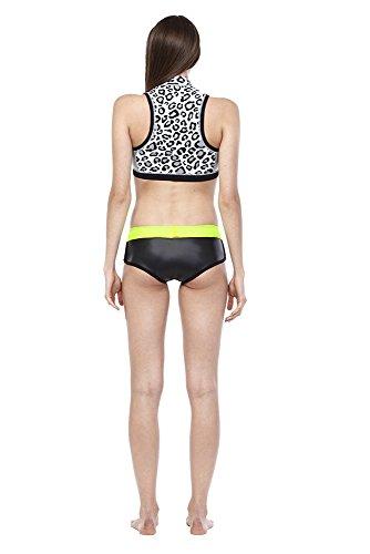 Glidesoul Damen Neopren Bikini-Shorts schwarz - Black Glide Skin/Lemon