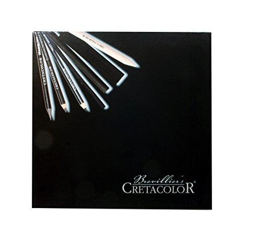 (CRETACOLOR 460 40 - Kohleset in Holzbox, Black, 20-teilig)