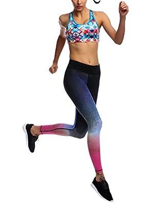 JIMMY DESIGN Damen Printed Sport Leggings - S, M, L, XL