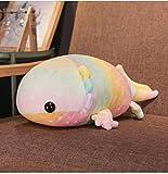 Coloridos Juguetes De Felpa De Dinosaurio De Peluche De Felpa De Algodón Rellenos De Salamandra Gigante Muñeca De Juguete para Niños Almohadas Suaves, Rosa-37Cm
