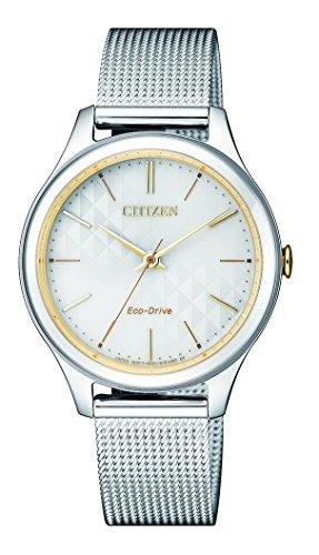 Citizen orologio analogico quarzo donna con cinturino in acciaio inox em0504-81a