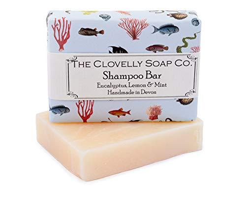 Clovelly Soap Co. Handgemachte Eukalyptus, Minze & Zitronen Shampoo Naturseife 100g -