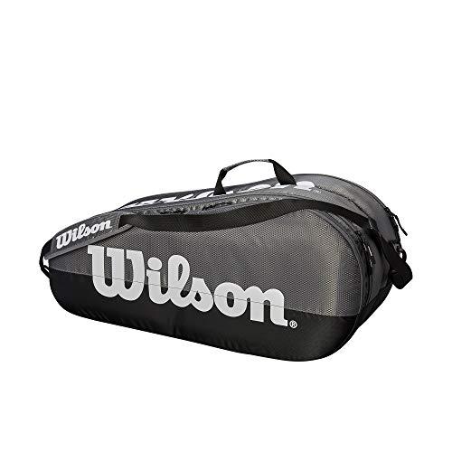 WILSON Tennistasche Team 2 Fächer, Team 2 Compartment, grau/schwarz