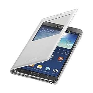Samsung S View Etui avec Récepteur à tapis de charge sans fil pour Samsung Note 3 Blanc