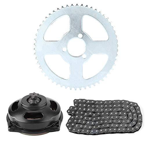 Yctze Motorrad Kettenrad Kit, Antriebssystem T8F Kette & 6T Getriebe & Kettenrad Kit für Minimotorrad 47ccm 49ccm Motorrad