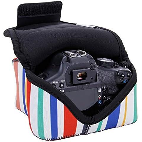 USA GEAR Funda Cámara Reflex Ligera y parcialmente impermeable para para Nikon D5300 5200 D7100 D5500 D3300 D3200 D610 Canon EOS 700D 750D 1200D 70D Sony Alpha A6300 A6000 A7 Pentax K50 y muchas