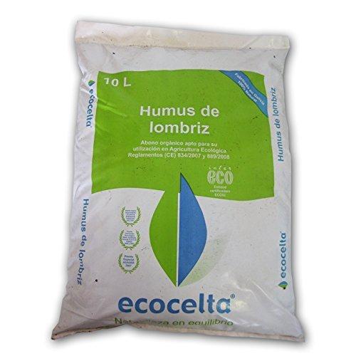 Ecocelta Humus de lombriz 10 l, Negro, ZA32