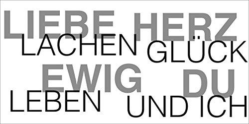 Artland Poster oder Leinwand-Bild gespannt auf Keilrahmen mit Motiv Jule Liebe Statement Bilder Sprüche & Texte Schrift Kunst Schwarz/Weiß D1GP