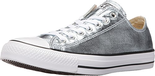 Converse Unisex Chuck Taylor All Star Ox Low Top Classic Metallic Glacier/White/Black Sneakers - 7.5 B(M) US Women / 5.5 D(M) US Men -