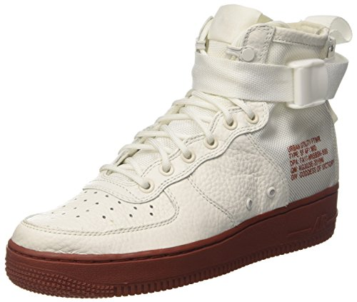 Nike Sf Af1 Mid, Chaussures de Gymnastique Homme Blanc Cassé (Ivory/ivory/mars Stone)