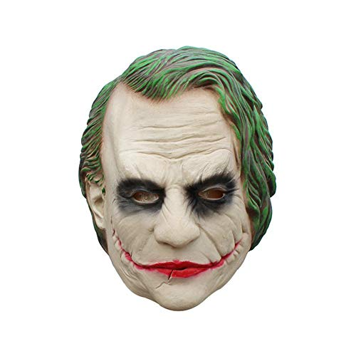 tümmaske, Clown-Maske mit kompletter Überkopf-Gesichtsmaske aus Latex, Pennywise Cosplay It Maske, dunkle Ritter-Maske für Erwachsene oder Kinder Clown B ()