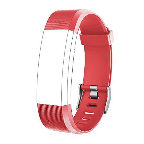 Happy Event Strap Kompatibel für ID115 Plus Smart Watch, Silicagel Case Verstellbares Ersatzzubehör Straps Fitness Wristband - Watch Nike Frauen Plus