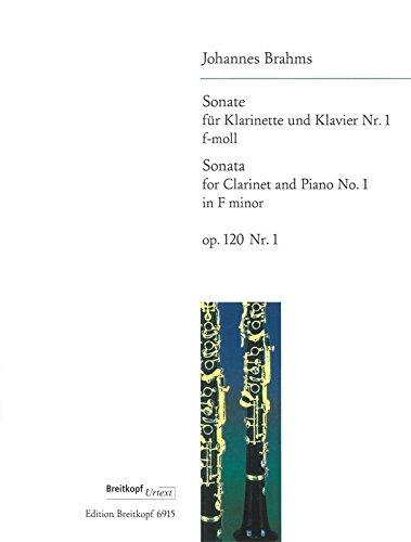 Sonate Nr. 1 F-Moll Op. 120/1 Clarinette