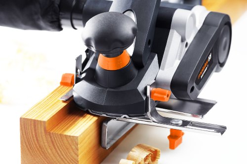 Meister Elektrohobel MEH 900-1, 900 W ✓ Hobeln & Fasen ✓ Seiten- & Tiefenanschlag ✓ Auffangbeutel | Hobelmaschine mit austauschbaren Messern | Elektrischer Handhobel mit Falztiefenanschlag | 5460140