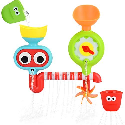 EisEyen Wasserspiel U-Boot mit Aktivitätenstation U-Boot Baby Badeset Set Interaktive Wasserfall Wasser Station Badewanne Spielzeug
