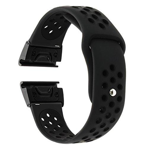 TRUMiRR Fenix 5 Armband, 22mm Quick Release Easy Fit Uhrenarmband Silikon Gummi Armband Doppelte Farbe Uhrenband für Garmin Fenix 5