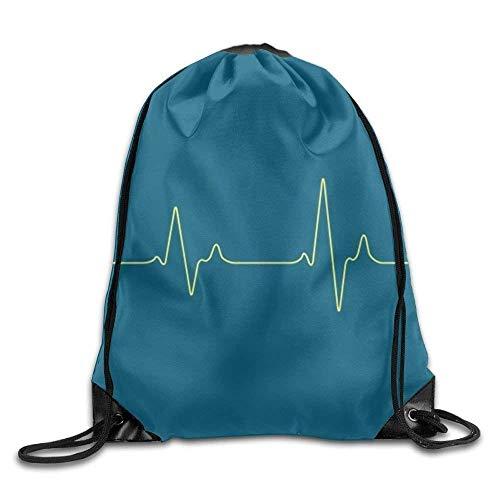 False warm warm Heartbeat Drawstring Backpack Rucksack Shoulder Bags Training Gym Sack for Man and Women - Roxy Rolling Rucksack
