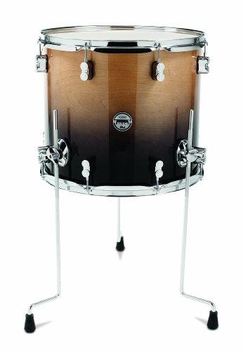 Pacific Drums pdcb1618ttnc 40,6x 45,7cm Floor Tom, mit Chrom Hardware, natur zu anthrazit verblassen