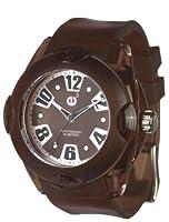 Tendence 02013050 - Reloj unisex de cuarzo, correa de caucho color marrón de Tendence