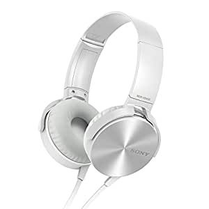 Sony MDR-XB450 On-Ear EXTRA BASS Headphones (White)