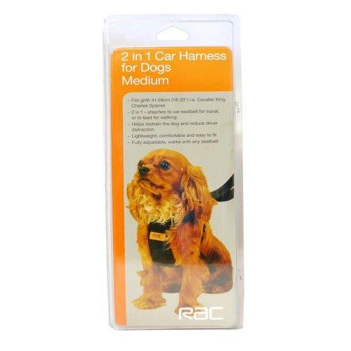 Preisvergleich Produktbild baumarkt direkt Hunde-Sicherheitsgurt »RAC Sicherheitsgurt« Größe M, M, schwarz