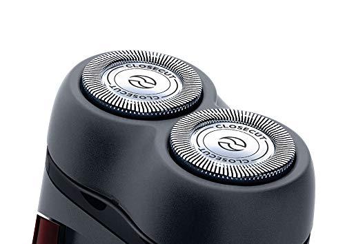 Philips Rasoio elettrico PQ206/18, colore nero, da viaggio, 2 x AA, plastica