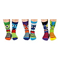 United Oddsocks - Box 6 Oddsocks For Boys UK 12-6 EUR 30.5-39 US 13.5-7 (Mashers)