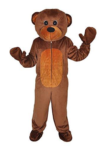TEDDY BÄR GR. XL - XXL KOSTÜM FASCHING KARNEVAL MASKOTTCHEN (Maskottchen Bären Anzug)