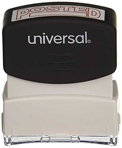 Message Stamp, POSTED, Pre-Inked/Re-Inkable, Red