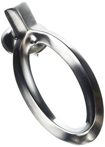 Mila 590262 - Battente moderno ovale, cromato e spazzolato, 15 cm