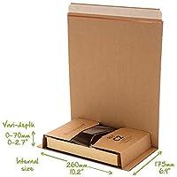 Buch CD DVD Kartusche Umwickeln C1 C2 C3 C4 C5 Post Schachteln Selbstklebender Streifen Einfach Reißstreifen Mail Bereit Karton Umwickeln - C2 (260x175mm)