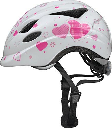 Abus Unisex - Kinder Fahrradhelm Anuky, 08184, Weiß (white heart), Gr. S (46-52 cm)