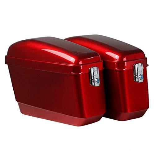 Top-Box für Motorräder Global Universal Motorrad Seitenkasten, Werkzeugfach GepäCk, Ohne Halterung, ABS-Material