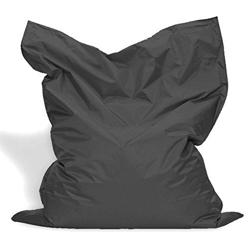 Sitzkissen XL-XXXXL Sitzsack Bodenkissen Kissen Sack In-und Outdoor (XXXXL= 200 x 145, Anthrazit)