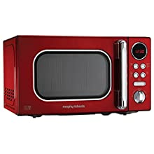 Morphy Richards Microwave Accents Colour Collection 511502 20L Digital Solo Microwave Red