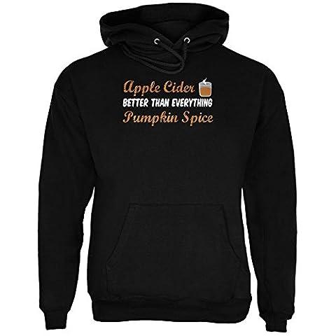 Herbst-Apfel-Cider ist besser als alles Pumpkin Spice Herren Hoodie schwarz LG