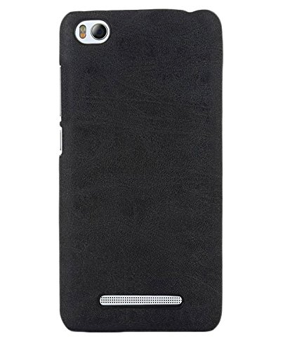 ImagineDesign™ Premium Handmade Weathered Leather Texture Collection Back Case Cover for XIAOMI MI4i MI 4i (Textured Black)