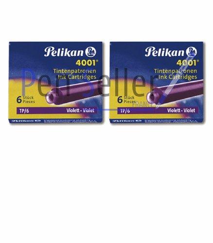 Pelikan: 2 Etuis mit 6 Standardpatronen, Farbe: violett.
