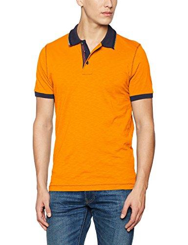 James & Nicholson Herren Poloshirt Men´s Urban Polo Orange (Orange-Navy)
