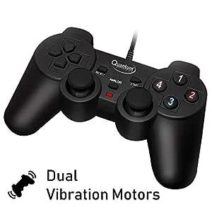 Quantum QHM7468 USB Gamepad with Dual Vibration (Black)